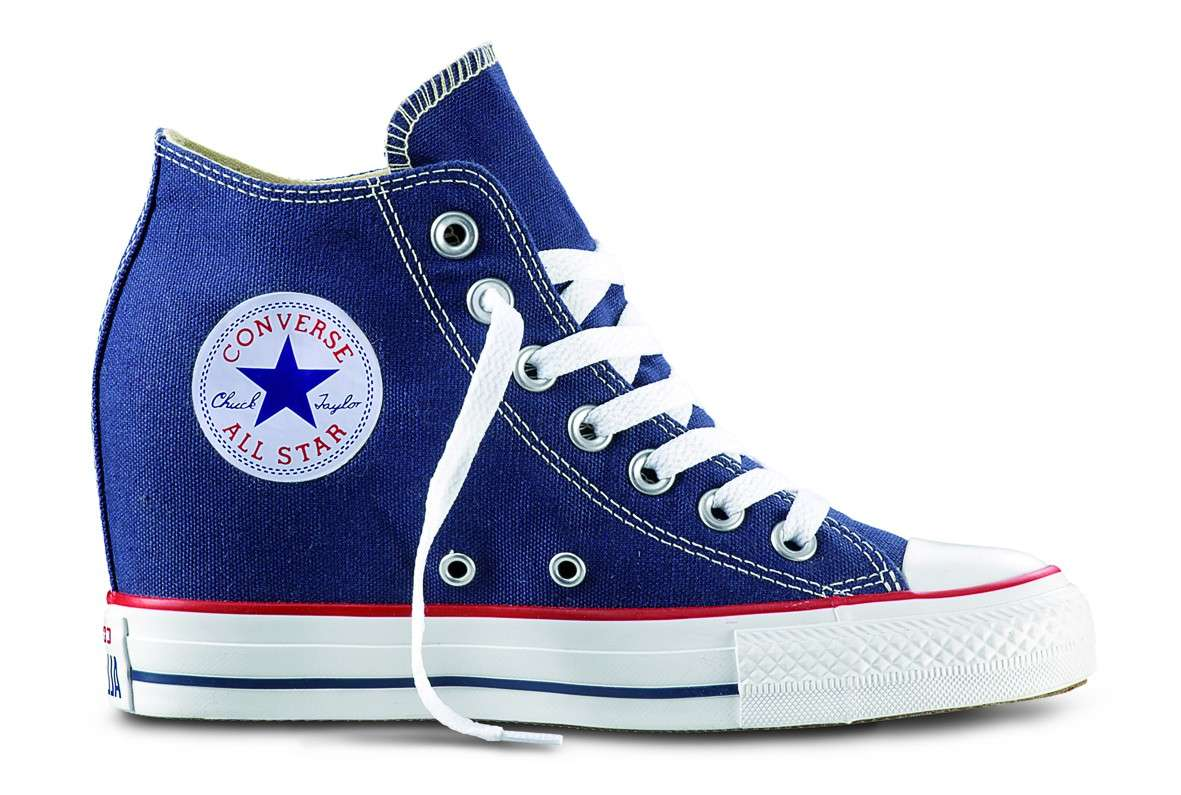 2all star converse donna con zeppa
