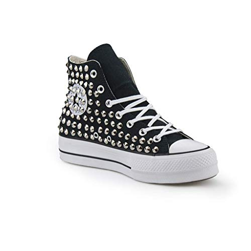converse all star nere borchiate