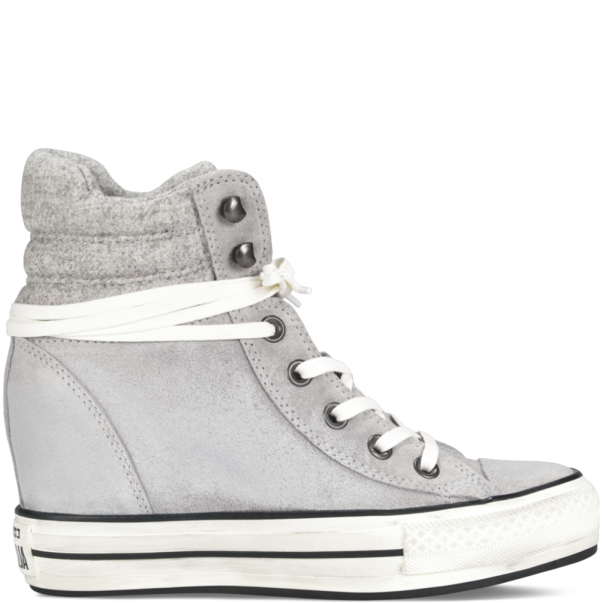 converse all star bianche zeppa