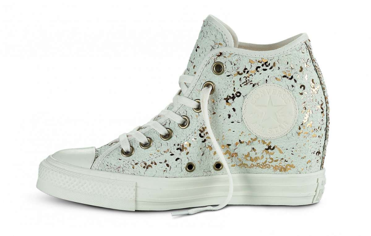 converse all star nere zeppa interna