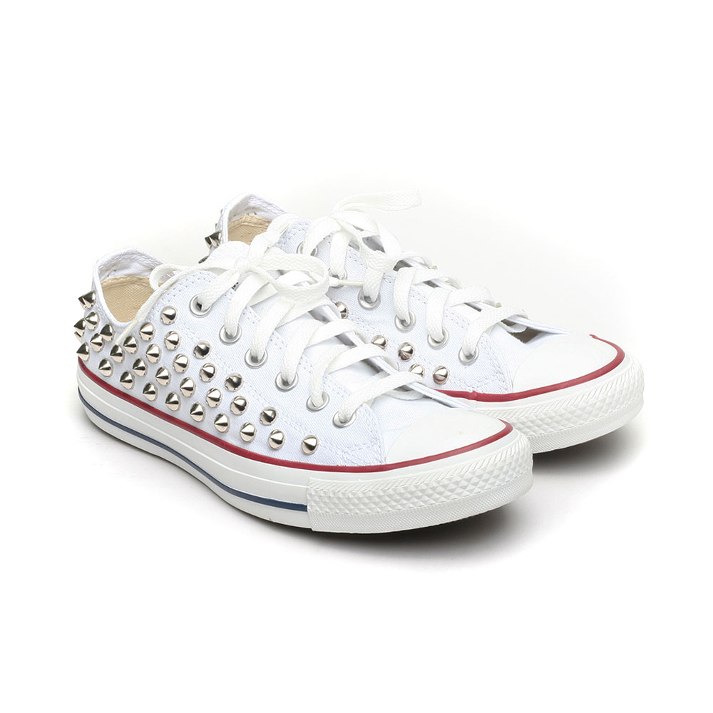 2all star converse bianche borchie