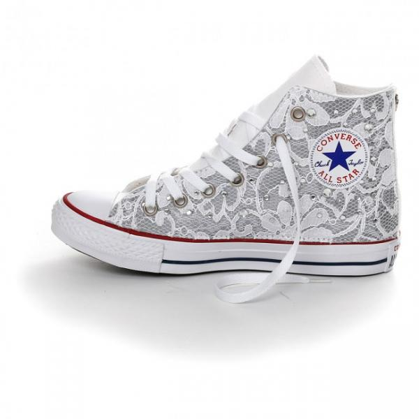 converse pizzo bianche